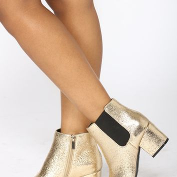Rylie Ankle Bootie - Gold