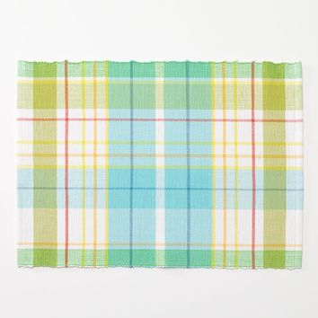 SONOMA life + style Plaid Ribbed Placemat (Blue)