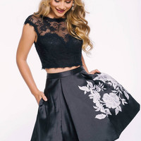 Jovani 42289 Lace and Satin Two Piece Homecoming Dress