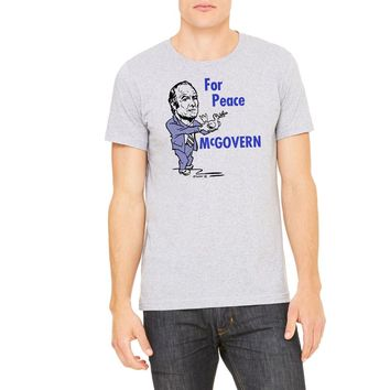 George McGovern 1972 Peace Retro Campaign T-Shirt