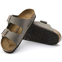 Sale Birkenstock Arizona Birkibuc Stone 0151211/0151213 Sandals