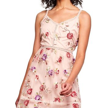 Gemma Floral Embroidered Dress