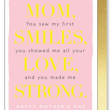 Mother's Day Love, Strong