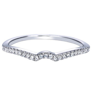 "Ben Garelick Royal Celebration ""Elyse"" Curved Prong Set Diamond Wedding Band"