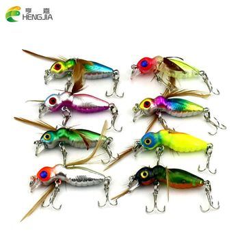 HENGJIA 8pcs insect Cicada Baits 4.5cm 3.4g Fishing Lures fly fishing  Bass Crank baits isca artificial bait Float Baits