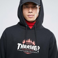 HUF x Thrasher Logo Hoodie With Back Print at asos.com