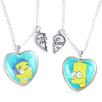BART & MILLHOUSE FRIENDSHIP NECKLACES