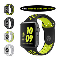 Lemse Sport 38mm 42mm Silicone Sports Band Strap for Apple Watch