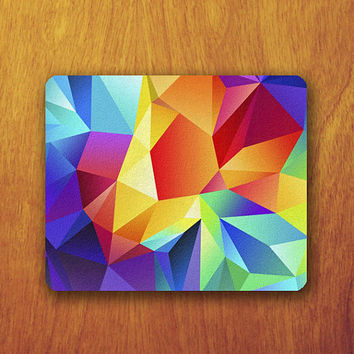 Geomatric Colorful Mouse Pad Beautiful MousePad Office Pad Work Accessory Personalized Custom Gift