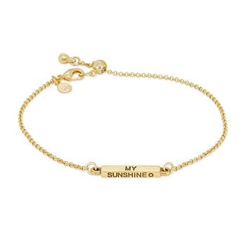 You Are My Sunshine Slider Bracelet