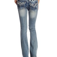 Miss Me Embellished Paisley Embroidered Bootcut Jean