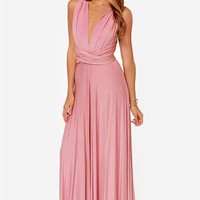 Formal Dress, Pink Plated Party Evening Prom Dress