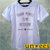 Low Price Women's Adult T-Shirt - Shawn Mendes is My Boyfriend design