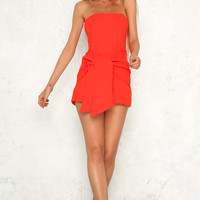 Mon Cheri Playsuit Red