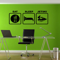 Stickers Wall Art Wall Decals Home Decor Wall Stickers Decor Nursery Ideas Sticker Art Print Eat Sleep Jet ski Watercraft Beach Live tr123