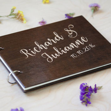 Wedding Guest Book, Wedding Guestbook, Guest Book Personalized, Custom Guest Book, Calligraphy