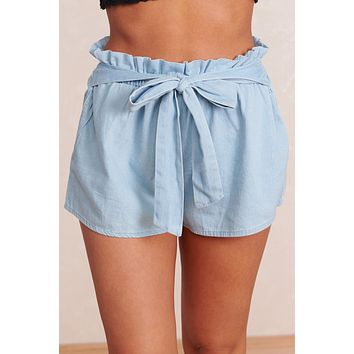 Always A Classic Tie Shorts (Light Blue)