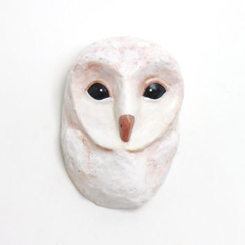 Forest Owl bird, Faux Taxidermy mask