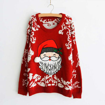 Autumn Winter Oversized Soft Warm Christmas Sweater Pull femme Women Pullovers Feminino Vrouwen Truien en korean Sweaters 650009