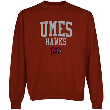 Maryland Eastern Shore Hawks Team Arch Sweatshirt - Cardinal