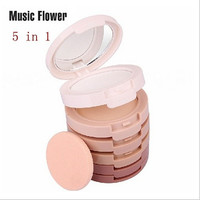 5 In 1 Makeup Professional Wet and Dry Two-way Foundation Corrector Face Waterproof Concealer Powder Palette Cosmetics [8096931079]