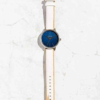 Nixon Kensington White Leather Watch