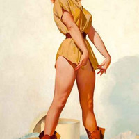 Safari Pin-Up Girl Poster 11x17