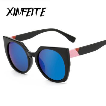 XINFEITE 2017 Hot New Fashion Cat Eye Sunglasses Women Brand Designer Vintage Luxury Street Snap Sun Glasses Female Oculos UV400