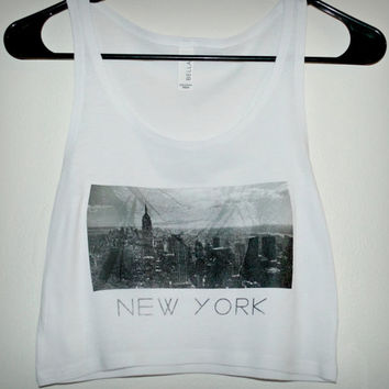 new york city crop top tank - brandy melville inspired