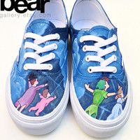 Custom Vans Hand Painted Shoes - Peter Pan