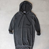 michelle by comune - 'quinlan' charcoal french terry hoodie dress