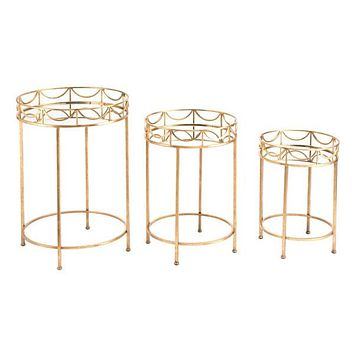 A11501 Set Of 3 Side Tables Gold