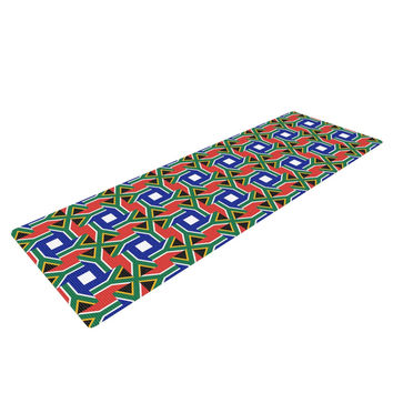 """Bruce Stanfield """"South Africa"""" Multicolor Yoga Mat"""