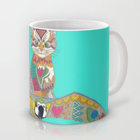 air kitten turquoise Mug by Sharon Turner