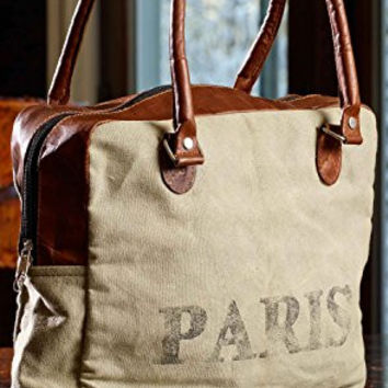 Mona B Paris Upcycled Canvas Bag M-1256 with Coin Purse