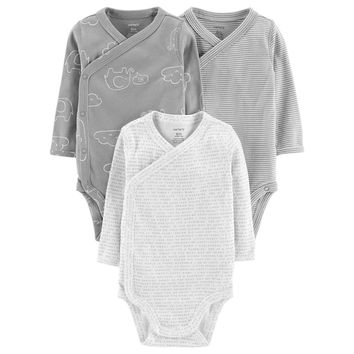 Baby Carter's 3-Pack Side-Snap Bodysuits