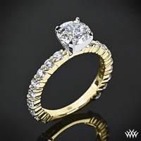 """18k Yellow Gold with Platinum Head """"Diamonds for an Eternity"""" Diamond Engagement Ring"""