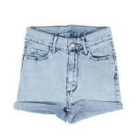 SHORT SKIN ICE WASH SHORTS- LIGHT BLUE