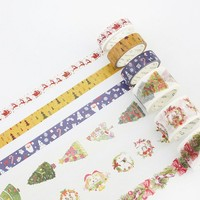 Christmas decoration washi tape DIY decoration scrapbooking planner masking tape adhesive tape kawaii label sticker stationery
