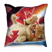 Cute Doritos Space Cat with Glasses Pillow