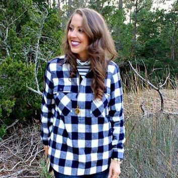 Buffalo Blue Plaid Shirt by Love Stitch !