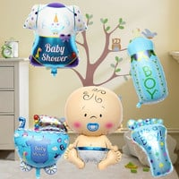 5PCS Baby Kids Shower Boy Giant Helium Foil Balloons Set Christmas Birthday Party Decor = 1946596804