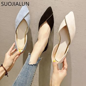 Ballet Shoes Slip On Loafers Pointed Toe Flats
