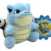 "Pokemon Center Blastoise 5"" Plush Doll with Blue Star Tag"
