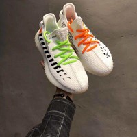 OFF White x Adidas Yeezy 350 V2 Boost White/Black 36-46