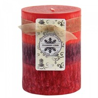 Cranberry Cider Pillar Candle 3x4