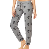 LLD SKULL PRINT SLIM CINCH PANTS