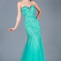 PRIMA C132381 Jeweled Mermaid Prom Dress