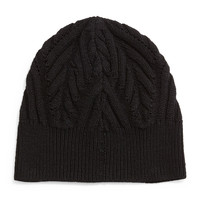 Textured Knit Beanie Cap, Black, BLACK - Theory