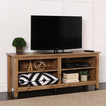 "58"" Barnwood Wood TV Stand Console"
